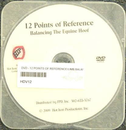 The Equine Hoof: 12 Reference Points DVD