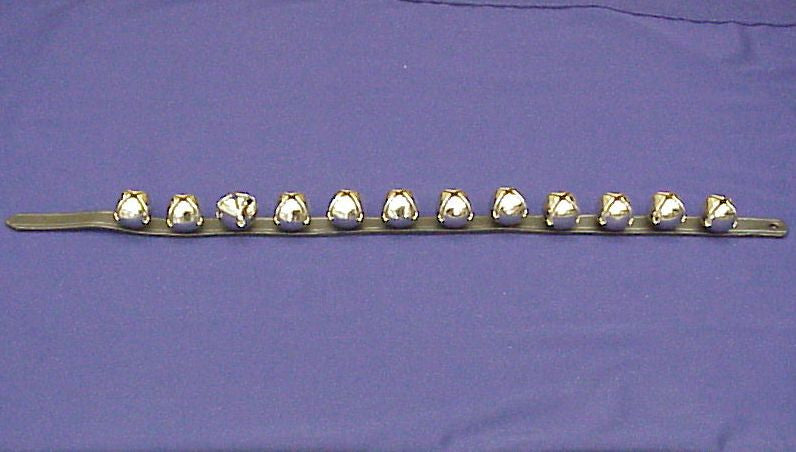 "Bells 12 On Leather Strap 1"" X 30""Chrome"