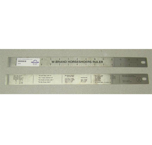 "Ruler, Horseshoers 16"" Stainless Steel"