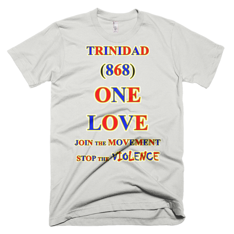 1659-T ... TRINIDAD ... Area Code 868 ... ONE LOVE ... T-SHIRT