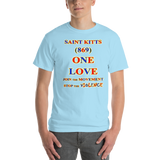 1511 - T ... SAINT KITTS ... Area Code 869 ... ONE LOVE ... STOP THE VIOLENCE ... T-SHIRT