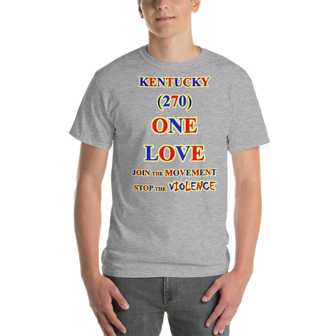 1251 - T ... KENTUCKY ... Area Code 270 ... ONE LOVE ... STOP THE VIOLENCE ... T-SHIRT
