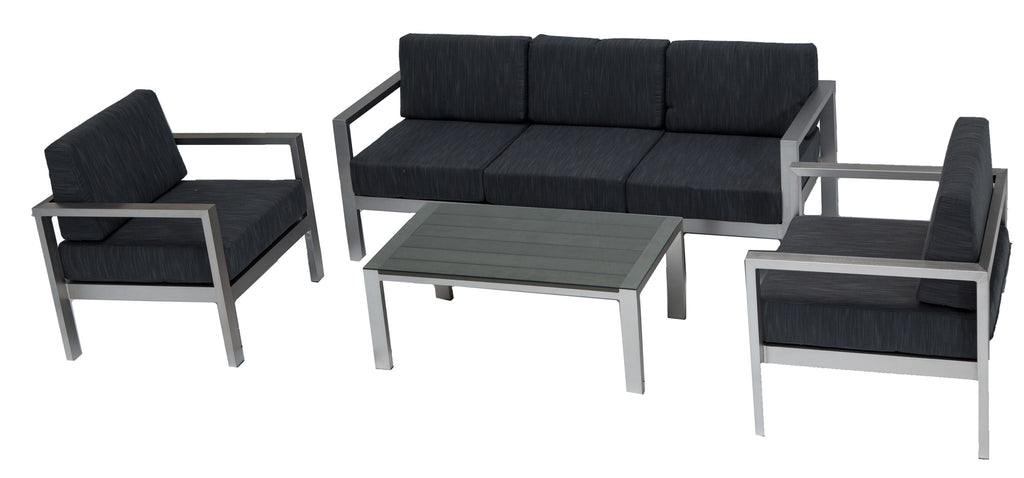 KQ 5028-02 Cast Aluminium Modern Sofa Set