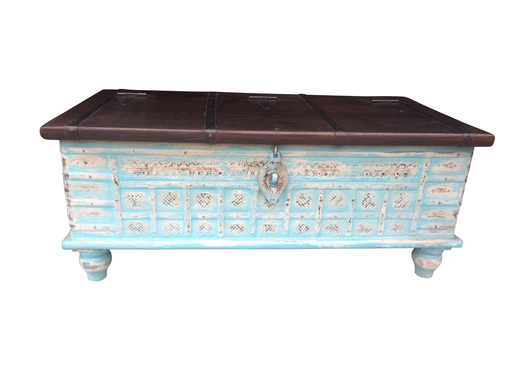 KGN040B Painted Trunk/Coffee Table