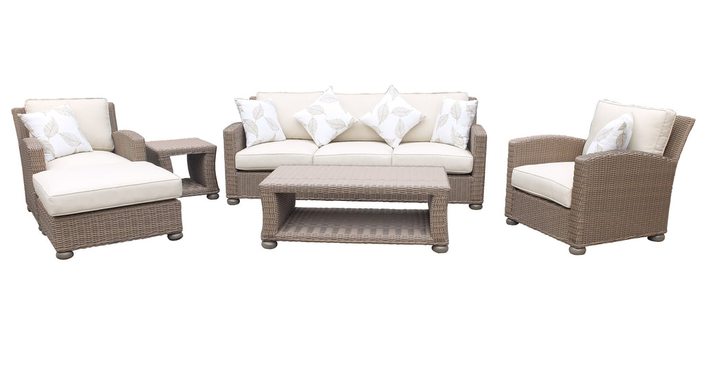 Bali Modern 6 Piece Sofa Set (A)- Koboo Brown-Half Round