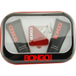 Bongo By Iconix Edt Spray 3.4 Oz & Aftershave Balm 6.8 Oz & Shower Gel 6.8 Oz For Men