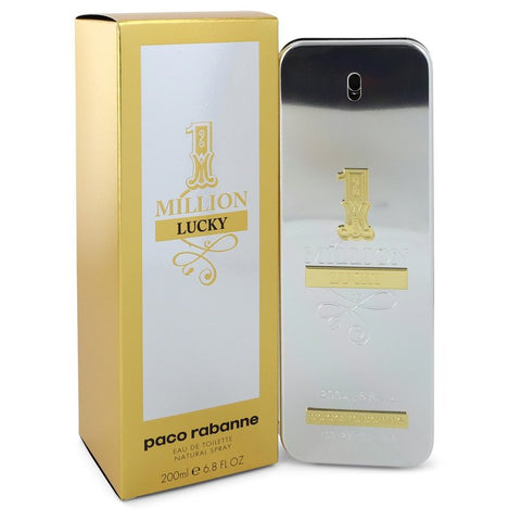 1 Million Lucky By Paco Rabanne Eau De Toilette Spray 6.8 Oz / 200 Ml For Men