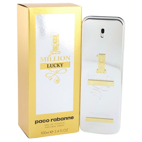 1 Million Lucky By Paco Rabanne Eau De Toilette Spray 3.4 Oz / 100 Ml For Men