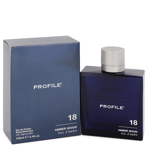 18 Amber Wood By Profile Eau De Parfum Spray (Unboxed) 3.4 Oz / 100 Ml For Men