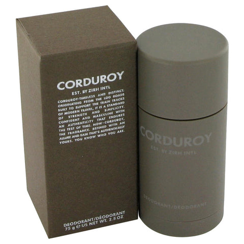 Corduroy By Zirh International Deodorant Stick 2.5 Oz / 75 Ml For Men