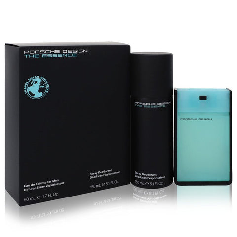 The Essence By Porsche Gift Set -- 1.7 Oz Eau De Toilette Spray + 5.1 Oz Deodorant Spray / -- For Men