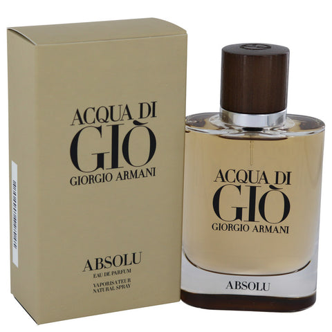 Acqua Di Gio Absolu By Giorgio Armani Eau De Parfum Spray 2.5 Oz / 75 Ml For Men