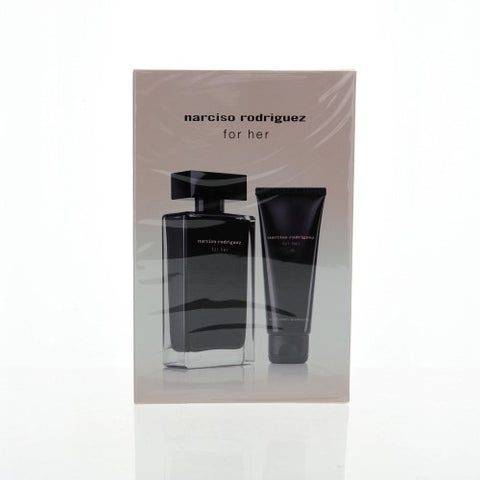 Narciso Rodriguez By Narciso Rodriguez 2 Piece Gift Set - 3.3 Oz EDT Spray, 2.6 Body Cream For Women