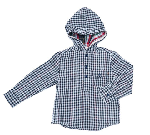Fore Inc. Boys Long Sleeve Check Hoodie