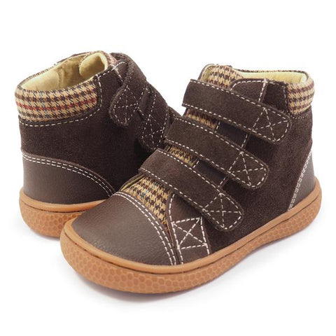 Livie & Luca Jamie Mocha Smooth Leather High Top Sneaker