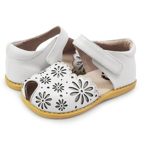 Livie & Luca Carmen Classic Smooth Leather in Bright White
