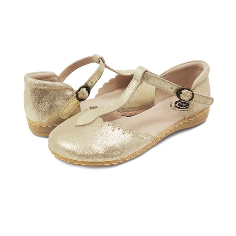 Livie & Luca girl's Fresca Shoe in Gold Shimmer