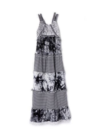Isobella and Chloe Girl's Black Marble Maxi