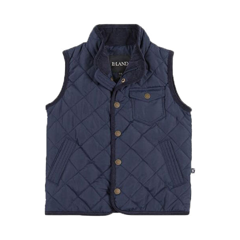 E-Land Boy's Navy Quilted Vest