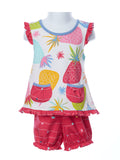 Three Friends Baby Girl Pineapple Two Piece Set