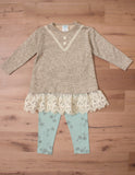 Peaches n' Cream Girl's Sweater and Pant Set