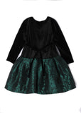 Isobella & Chloe Girl's Drop Waist Mistletoe Dress