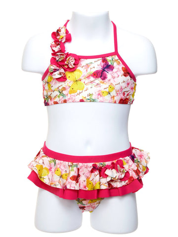 Butterfly Kisses Two Piece Toddler Swimsuit
