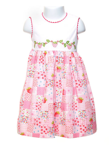Kid Girl Strawberry Vine Dress