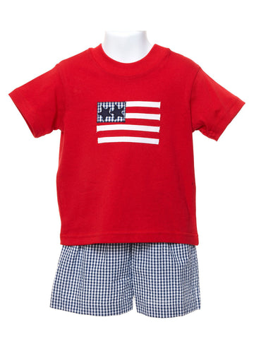 Baby Boy Flag Shorts Set