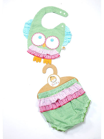 Owl Bib and Bloomer Set