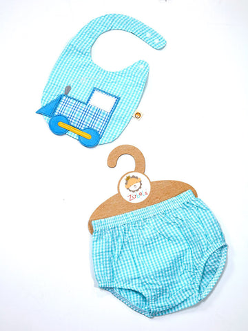 Train Bib and Bloomer Set