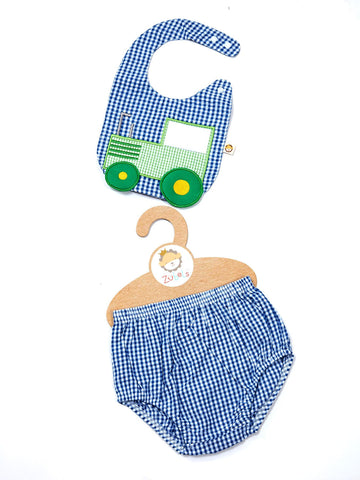 Tractor Bib and Bloomer Set