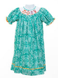 Mom & Me Girl's Smocked Owls Bishop Dress