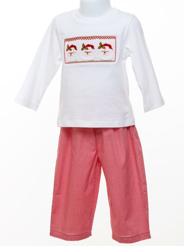 Mom & Me Three Santas Two Piece Set