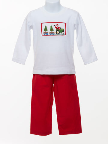 Three Sisters Toddler Boy's Smocked Holiday Set