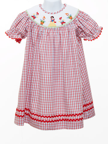 Three Sisters Smocked Girl's Dress with Princess & Helpers