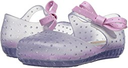 Mini Melissa Furadinha X Sparkly Clear with Pink Bow