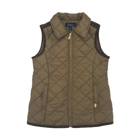 E-Land Boys Brown Quilted Vest
