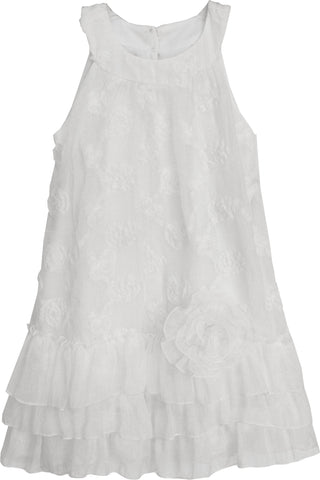 Couture Look Updated Modern Soft White Dress