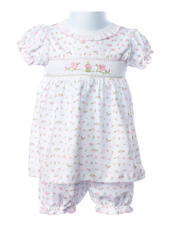 Baby Threads Bird and Cage Smocked Dress