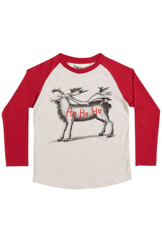 Paper Wings Long Sleeve Raglan Reindeer T-shirt