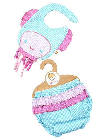 Zubells Bib and Bloomer Jellyfish Set