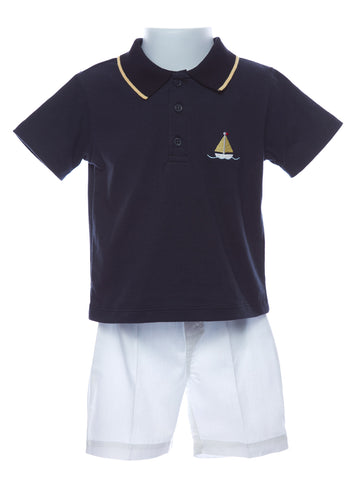 Carriage Boutique Baby Boy Sailboat Short Set