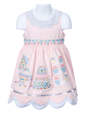 Cotton Kids Girl's Tea Party Dress