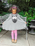 Heather Grey Swing Tunic with Owl