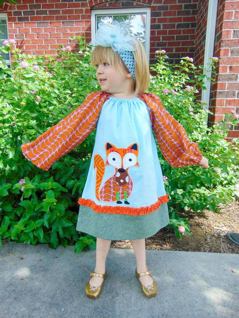 Fox Appliqued Dress