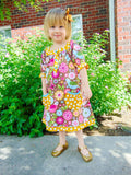Print A-line Dress With Front Pockets