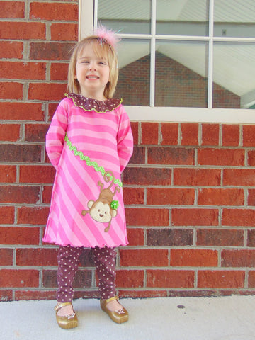 Monkey Business - Fun Dress and Leggings