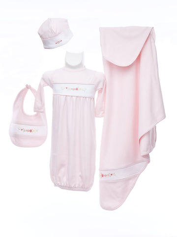 Four Piece Layette for Baby Girl
