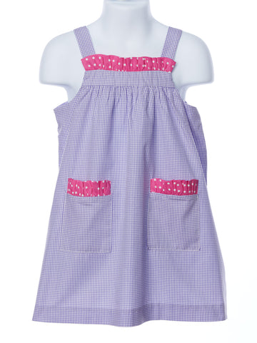 Funtasia Too Lavender Check Sundress with Pockets
